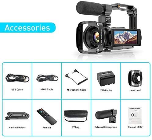 Video Camera 4K Camcorder Ultra HD 48MP Vlogging Camera for ...